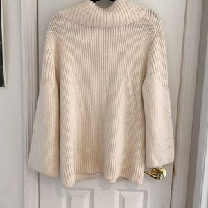 rag & bone Sweaters - Rag and Bone white Wool Turtleneck Sweater